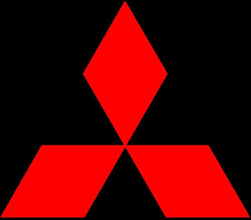 Logo dell'auto Mitsubishi